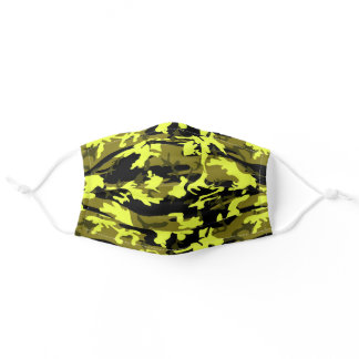 Military Green, Yellow, Khaki, Camo Camouflage Adult Cloth Face Mask
