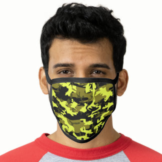 Military Green, Yellow, Khaki, Camo Camouflage Face Mask