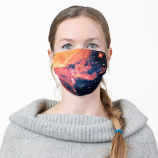 Milky way galaxy texture adult cloth face mask