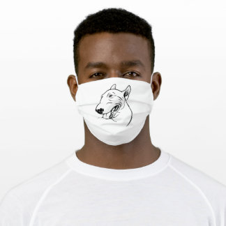 Miniature Bull Terrier  Bully Gift Adult Cloth Face Mask