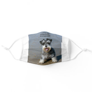 miniature schnauzer-love w picture adult cloth face mask
