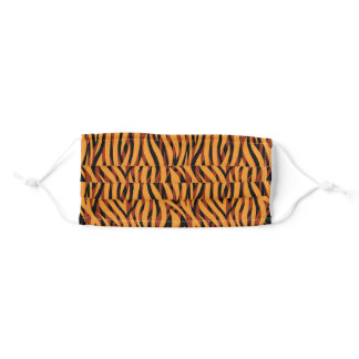 Minimal Big Cat Stripes Animal Print Adult Cloth Face Mask