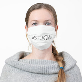 Minimal Simple Black Vaccinated Stop Covid Adult Cloth Face Mask