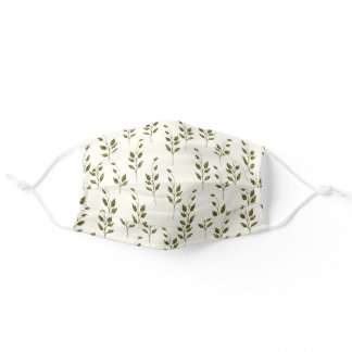 Minimalist Garden Branch Drawing Reusable Washable Adult Cloth Face Mask
