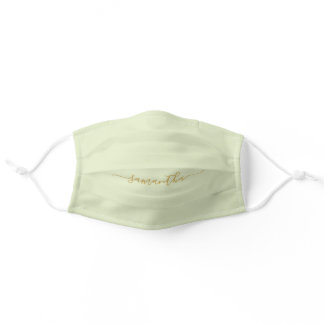 Minimalist Mint Green Solid Color Custom Adult Cloth Face Mask