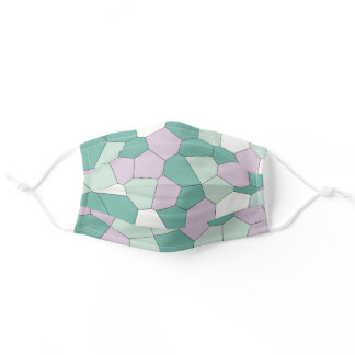 Mint and Violet Adult Cloth Face Mask