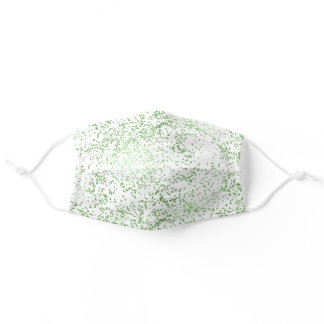 Mint Confetti Dots   Adult Cloth Face Mask