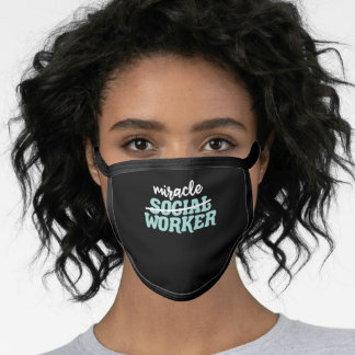 Miracle Social Worker School Gift Mental Health Face Mask