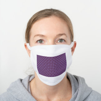 'Mirage' | Chive Blossom on Dark Purple | White Cotton Face Mask