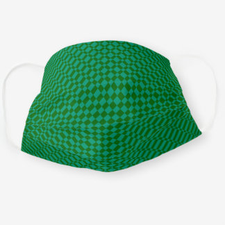 'Mirage' | Emerald Green on Deep Green | Adult Cloth Face Mask
