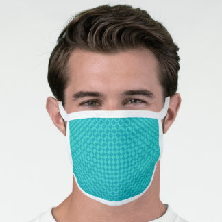'Mirage' | Teal on Peacock Blue | Face Mask