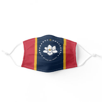 Mississippi 2020 State Flag In God We Trust Adult Cloth Face Mask