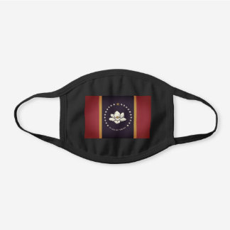 Mississippi State Flag (New in 2020) Black Cotton Face Mask