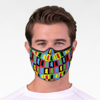 Mississippi US State Pattern Premium Face Mask