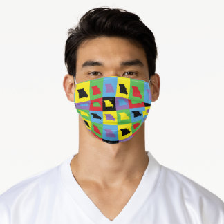 Missouri US State Colorful Pattern Adult Cloth Face Mask