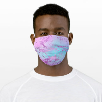 Mixed Color Abstract Watercolor Print Pattern Adult Cloth Face Mask