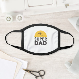 "Modern Design ""SUPER DAD"" Father's Day Party gift Face Mask"