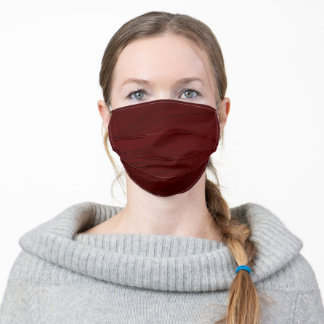 Modern elegant and classy dark red color simple adult cloth face mask