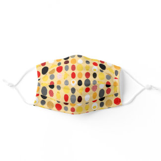 Modern Geometric Memphis style Chicken Eggs Adult Cloth Face Mask