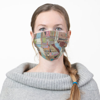 Modern Map of New York II Adult Cloth Face Mask