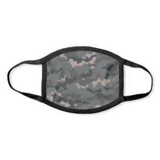 Modern Olive Green Camo Pattern Face Mask