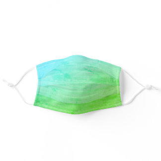 Modern Pastel Teal Green Gradient Ombre Stylish Adult Cloth Face Mask