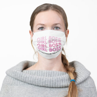 Modern Pink Girl Boss Best Girly Gift Adult Cloth Face Mask