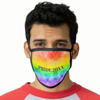 Modern pride 2020 rainbow watercolor ombre Lgbt Face Mask