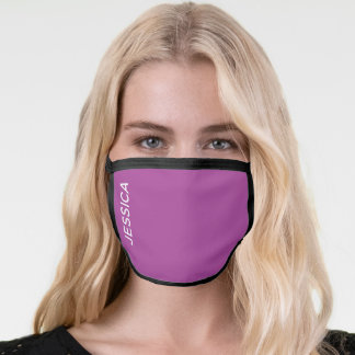Modern Purple Nurse Hospital Scrubs Employee Name Face Mask