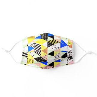 Modern Retro Memphis Styled Adult Cloth Face Mask