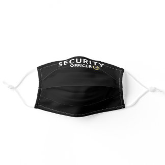 Modern Security Officer Custom Print Black Adult Cloth Face Mask
