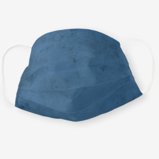 Modern Simple blue Urban Retro Cloth Face Mask