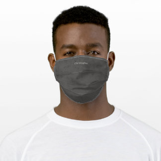 Modern Simple Gray Urban Retro Name Adult Cloth Face Mask