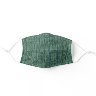 Modern Simple Green Gray Blue Adult Cloth Face Mask