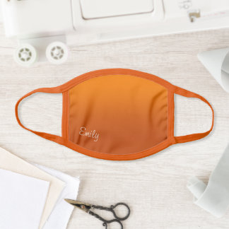 Modern Style Name Pumpkin Spice Ombre Face Mask