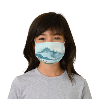 Modern Watercolor Nature Let's The Adventure Begin Kids' Cloth Face Mask