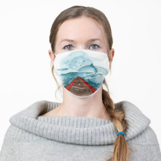 Modern Watercolor Nature See The World Quote Adult Cloth Face Mask