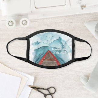 Modern Watercolor Nature See The World Quote Face Mask