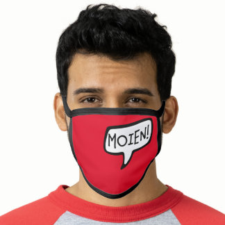 MOIEN! Luxembourgish Greeting Speech Bubble Face Mask