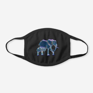 Mom and Baby Elephant Button Mask