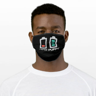 Mom Empty Battery Puppy Battery Full Adult Cloth Face Mask