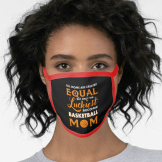Mom Luckiest Basketball Mom Face Mask