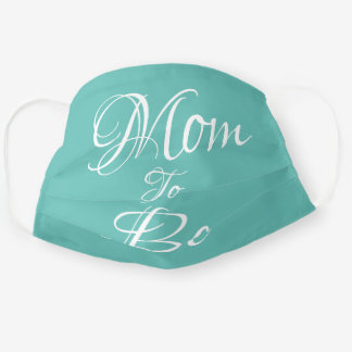 Mom to Be Green Pregnancy Baby Script Cute Cloth Face Mask