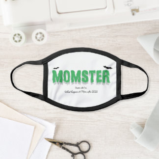 Momster Funny Halloween 2020 Text Saying Quote Face Mask