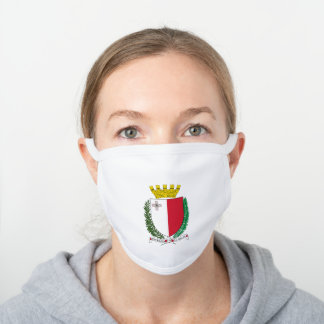 Monacan coat of arms white cotton face mask