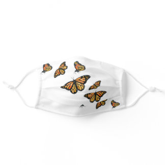 Monarch butterfly wildlife nature adult cloth face mask