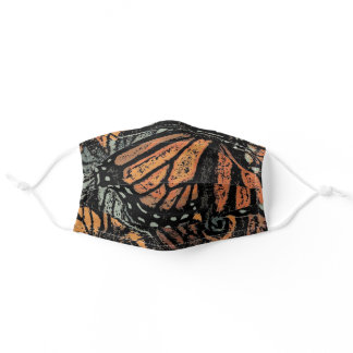 Monarch Butterfly Wings Pattern Adult Cloth Face Mask