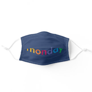 Monday Navy Adult Cloth Face Mask
