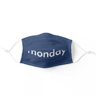 Monday School Navy Adult Cloth Face Mask