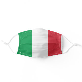 Monogram Add Your Name Colors of Italy Flag Adult Cloth Face Mask